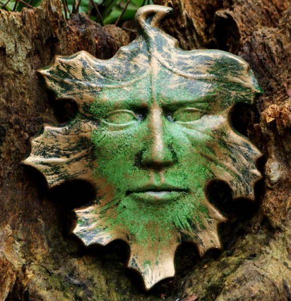 Face In The Leaves Green Man Spirit Of The Green Man