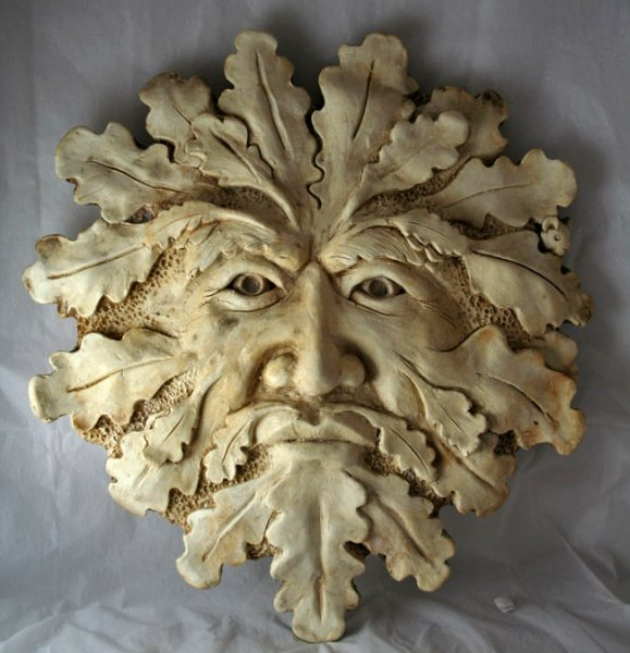 Green Man And Mouse Marble Finish Spirit Of The Green Man