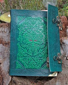 green-man-journal-side-view