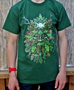 green-man-tshirt