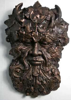 herne-wall-plaque-bronzed