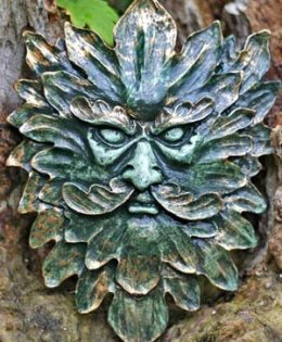 spiky-green-man-wall-plaque