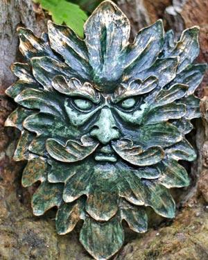 spiky-green-man-wall-plaque
