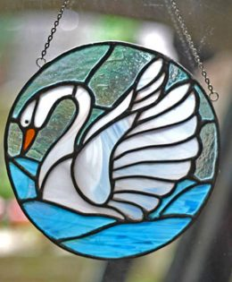 stained-glass-swan