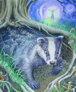 calling-badger-card