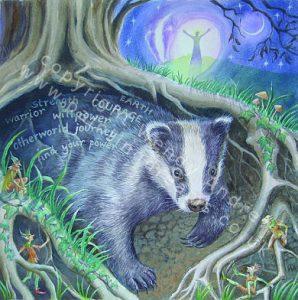 calling-badger-card