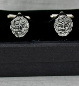 green-man-pewter-cufflinks