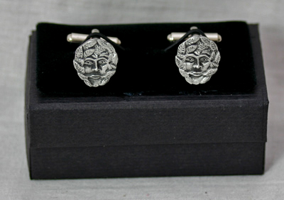 green-man-cufflinks