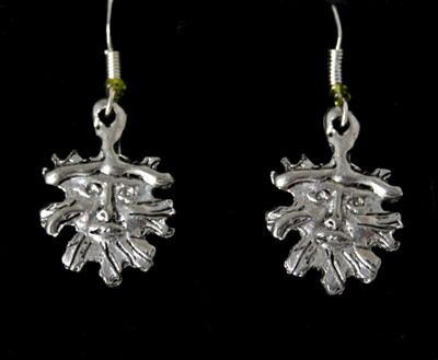 green-man-earrings