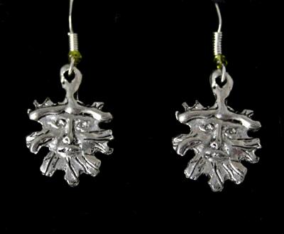 green-man-earrings