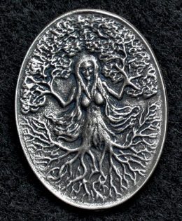 green-woman-pewter-pendant