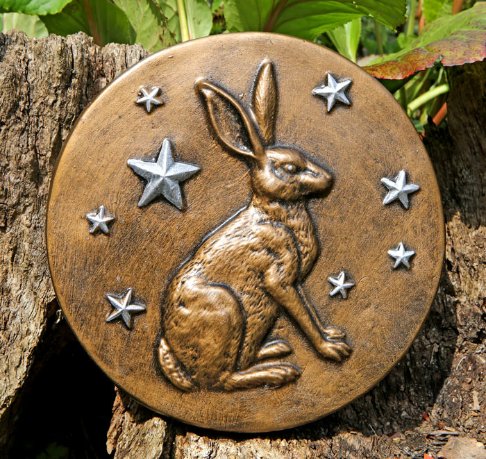 hare and stars plaque