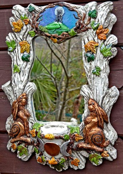 4 Hares Of Avalon Mirror By Kathleen Minton Spirit Of