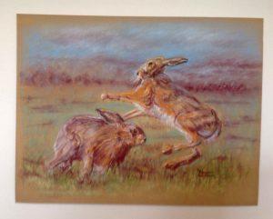 hares-dancing