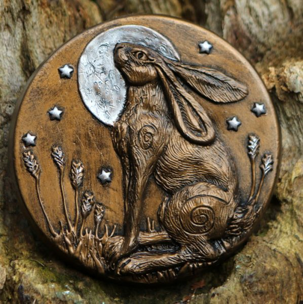 7 Moonlit Moon Gazing Hare Spirit Of The Green Man