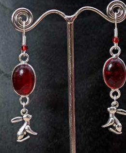 garnet-hare-earrings