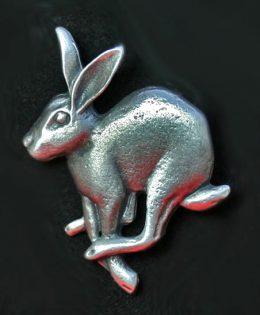 running-hare-brooch