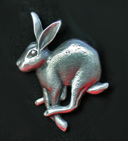 running-hare-brooch