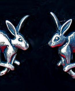 running-hare-earrings