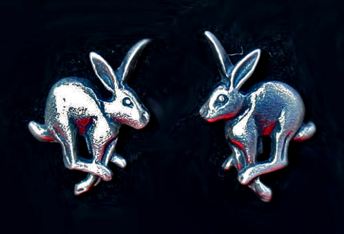 running-hare-earrings