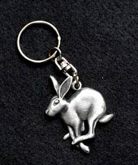 running-hare-keyring