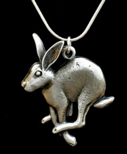 running-hare-necklace