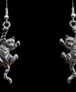climbing-cat-earrings