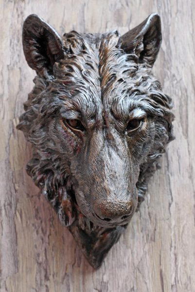 wolf-head-front-view