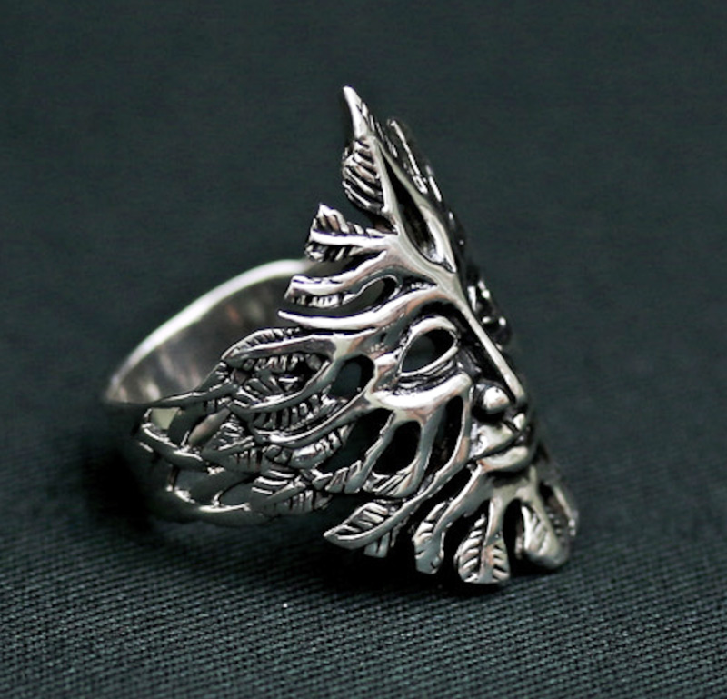 green-man-sterling-silver-ring
