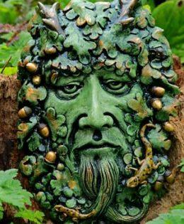 green-man-puch-green