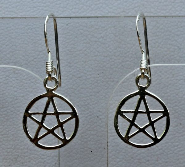 pentacle-silver-earrings