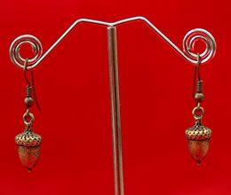 brass-earrings-acorn-style