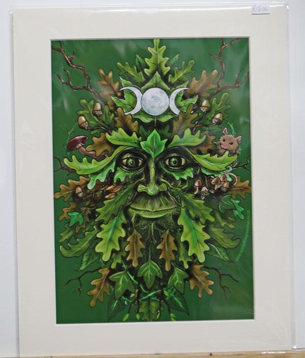 green-man-print